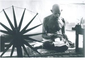 Mahatma Gándhí a jeho kolovrátek